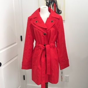 NWT Calvin Klein hooded trench coat